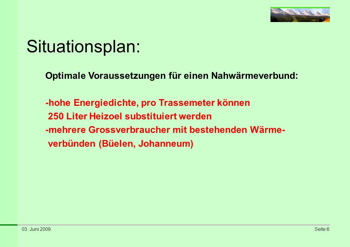 Situationsplan: Optimale Voraussetzungen für einen Nahwärmeverbund: