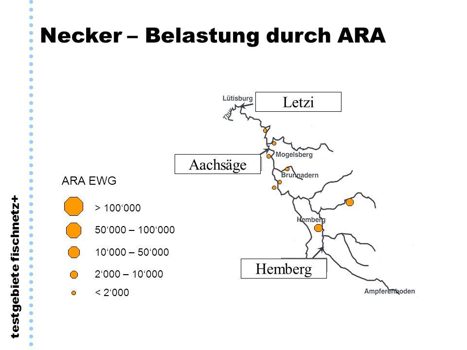 Necker – Belastung durch ARA