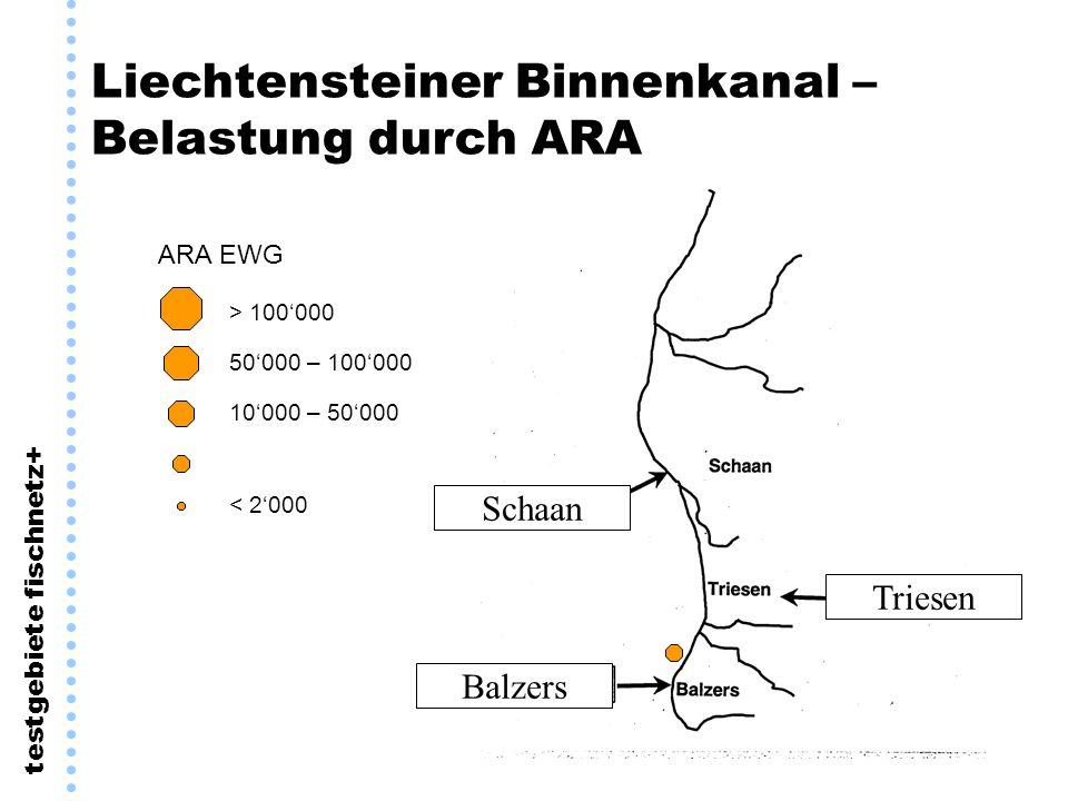 Liechtensteiner Binnenkanal – Belastung durch ARA