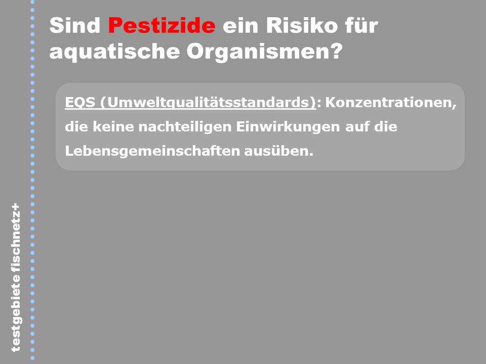 Sind Pestizide ein Risiko für aquatische Organismen
