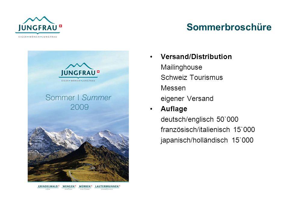 Sommerbroschüre Versand/Distribution Mailinghouse Schweiz Tourismus