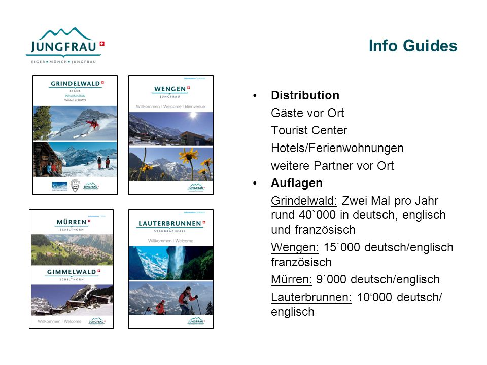 Info Guides Distribution Gäste vor Ort Tourist Center