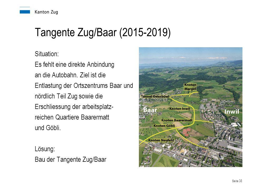 Tangente Zug/Baar (2015-2019) Situation: