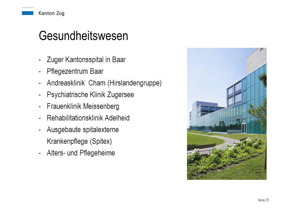 Gesundheitswesen Zuger Kantonsspital in Baar Pflegezentrum Baar