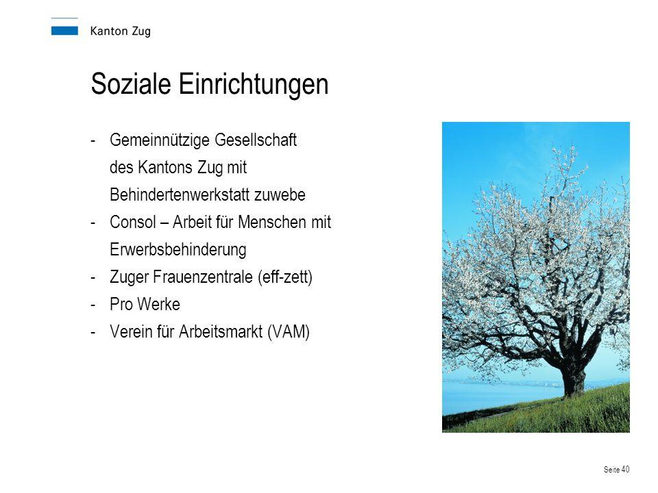 Soziale Einrichtungen