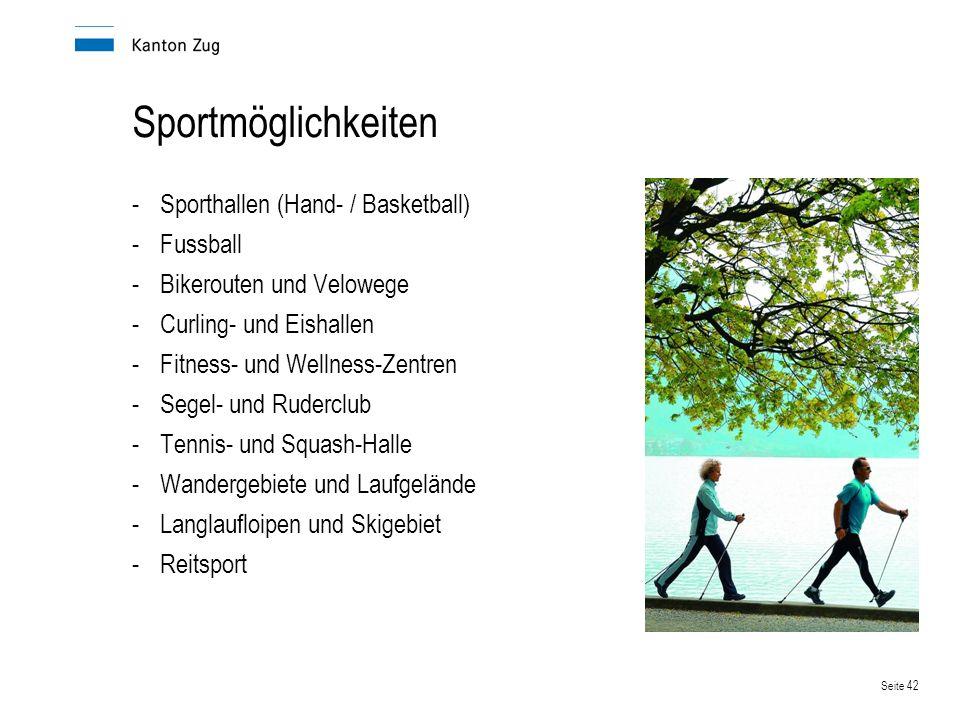 Sportmöglichkeiten Sporthallen (Hand- / Basketball) Fussball