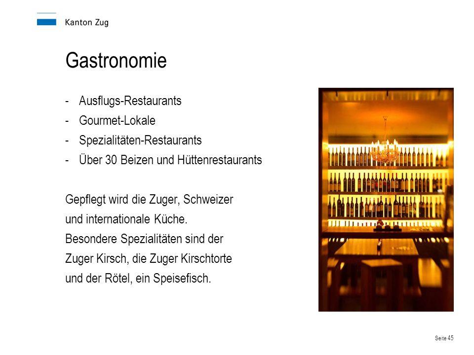 Gastronomie Ausflugs-Restaurants Gourmet-Lokale