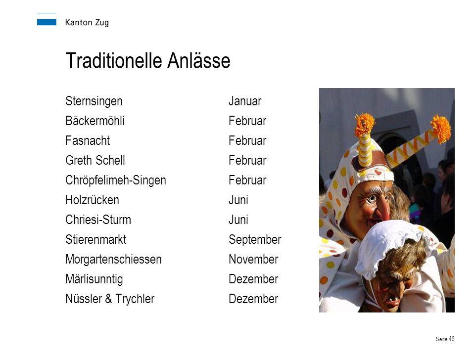 Traditionelle Anlässe