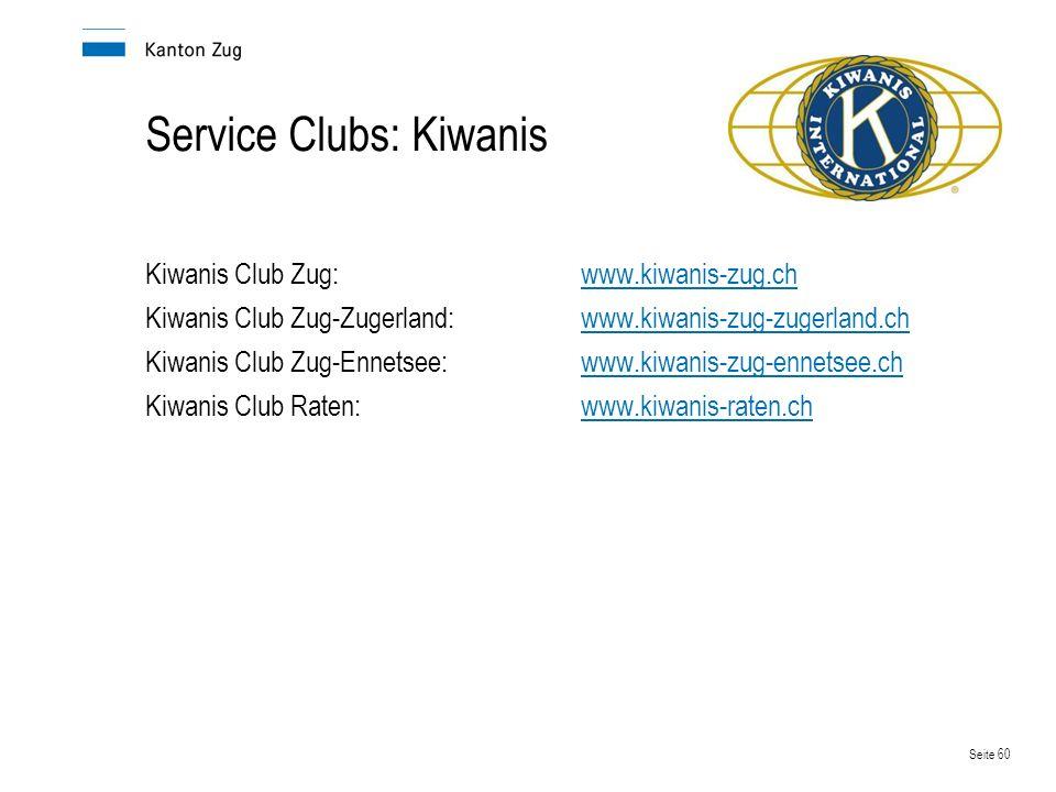 Service Clubs: Kiwanis