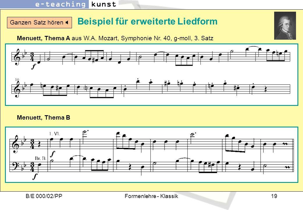 Beispiel für erweiterte Liedform