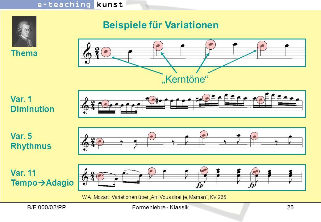 Beispiele für Variationen