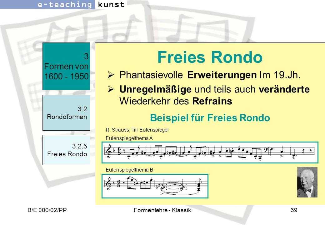 Beispiel für Freies Rondo