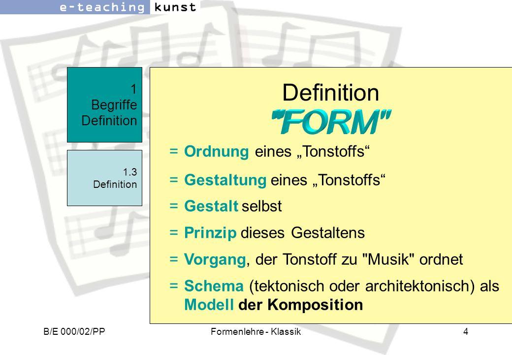 """Definition FORM Ordnung eines """"Tonstoffs"""