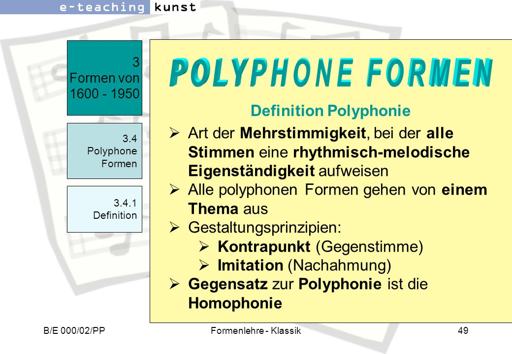 Definition Polyphonie