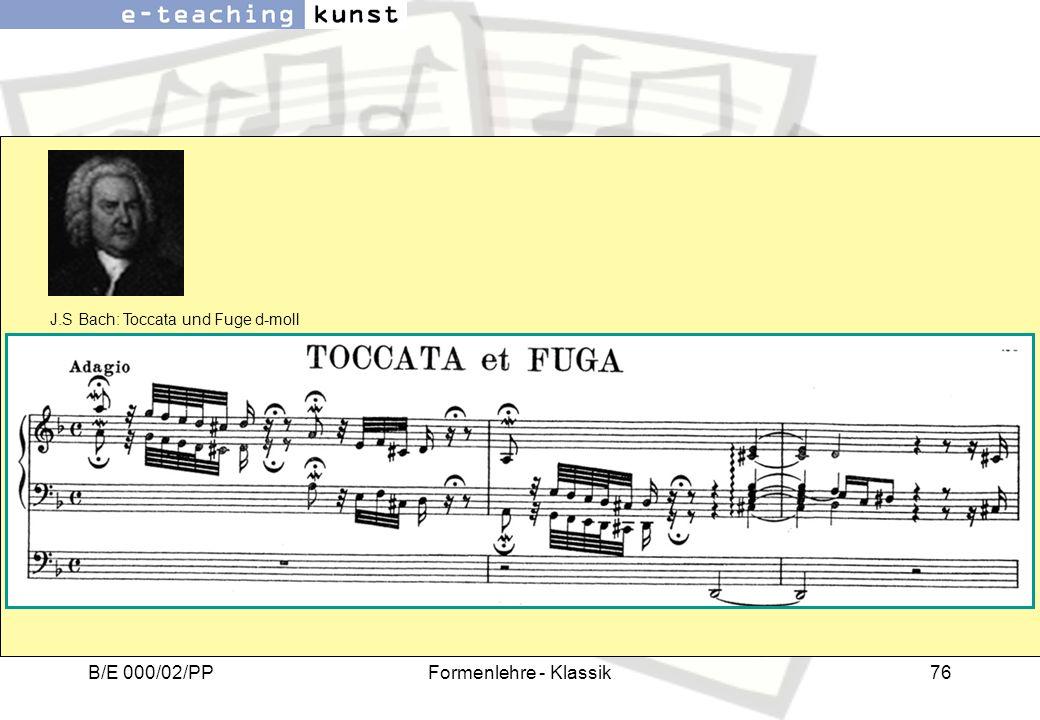 J.S Bach: Toccata und Fuge d-moll