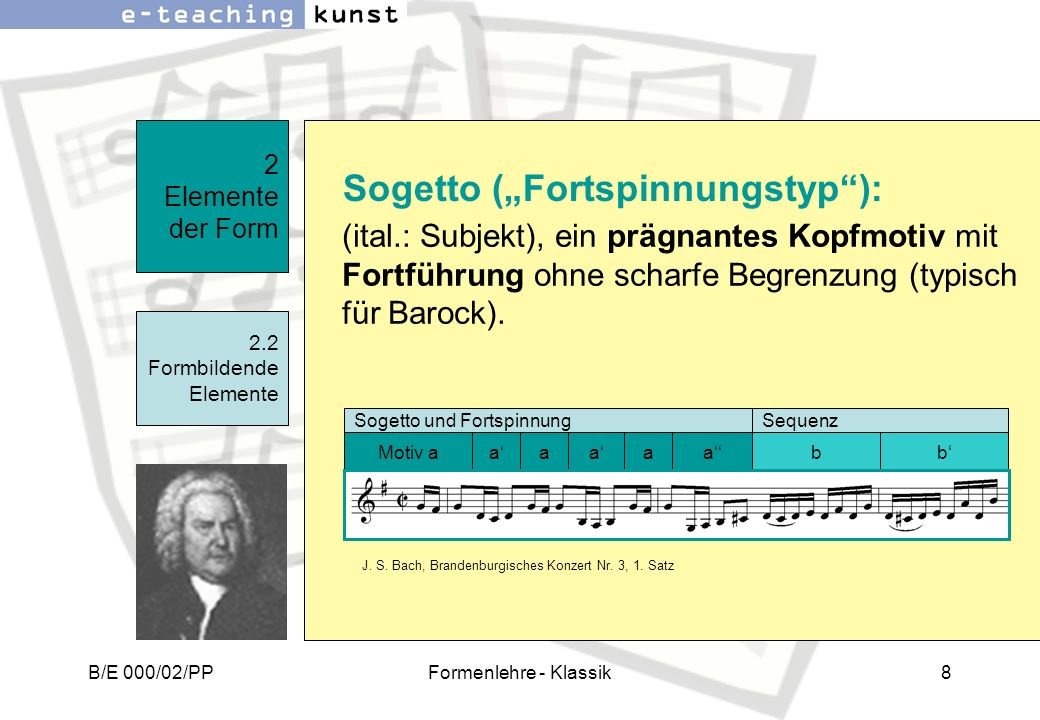 """Sogetto (""""Fortspinnungstyp ):"""