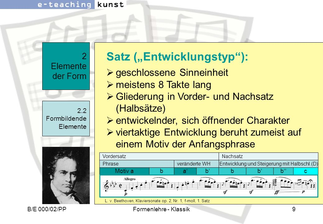 """Satz (""""Entwicklungstyp ):"""