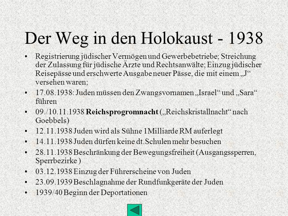 Der Weg in den Holokaust - 1938