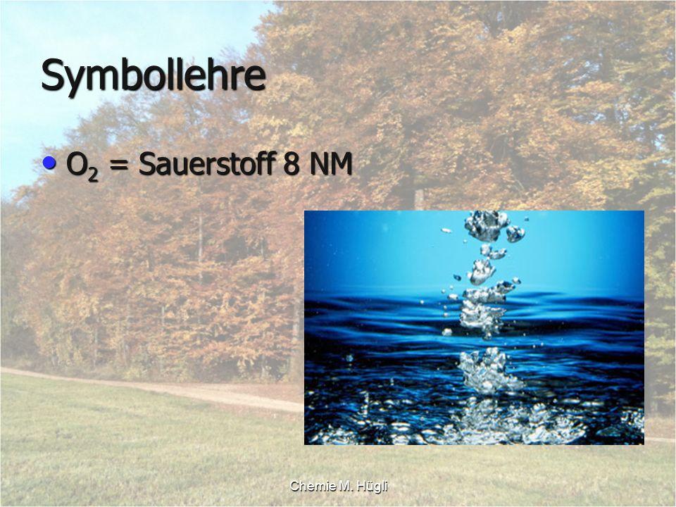 Symbollehre O2 = Sauerstoff 8 NM Chemie M. Hügli