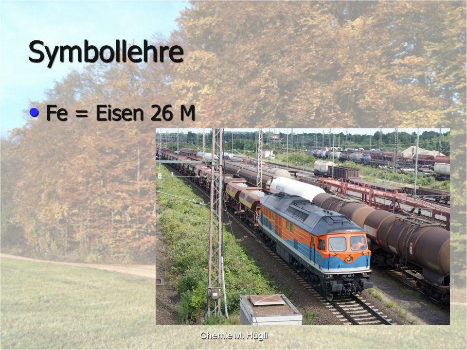 Symbollehre Fe = Eisen 26 M Chemie M. Hügli