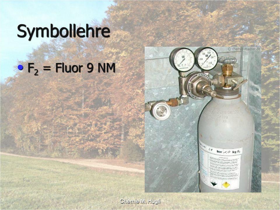 Symbollehre F2 = Fluor 9 NM Chemie M. Hügli