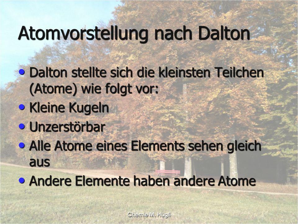 Atomvorstellung nach Dalton