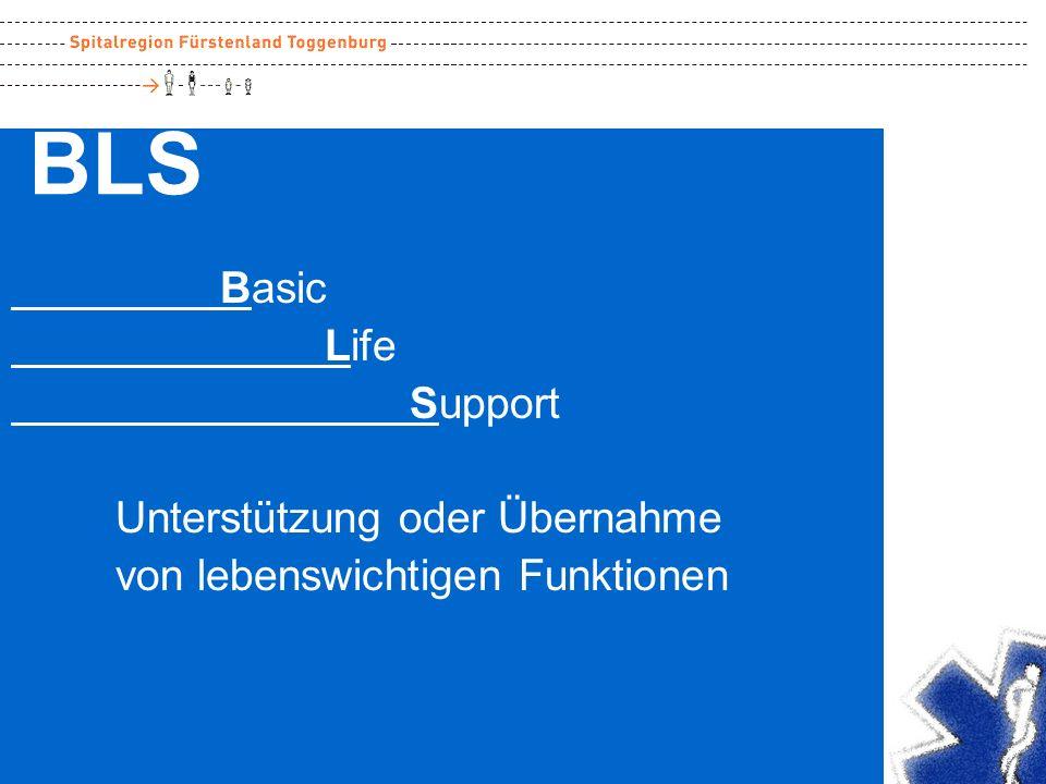 BLS Basic Life Support Unterstützung oder Übernahme