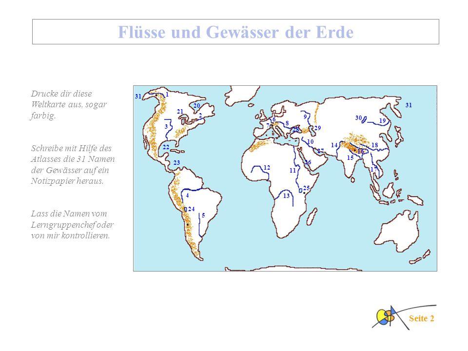 Flüsse und Gewässer der Erde