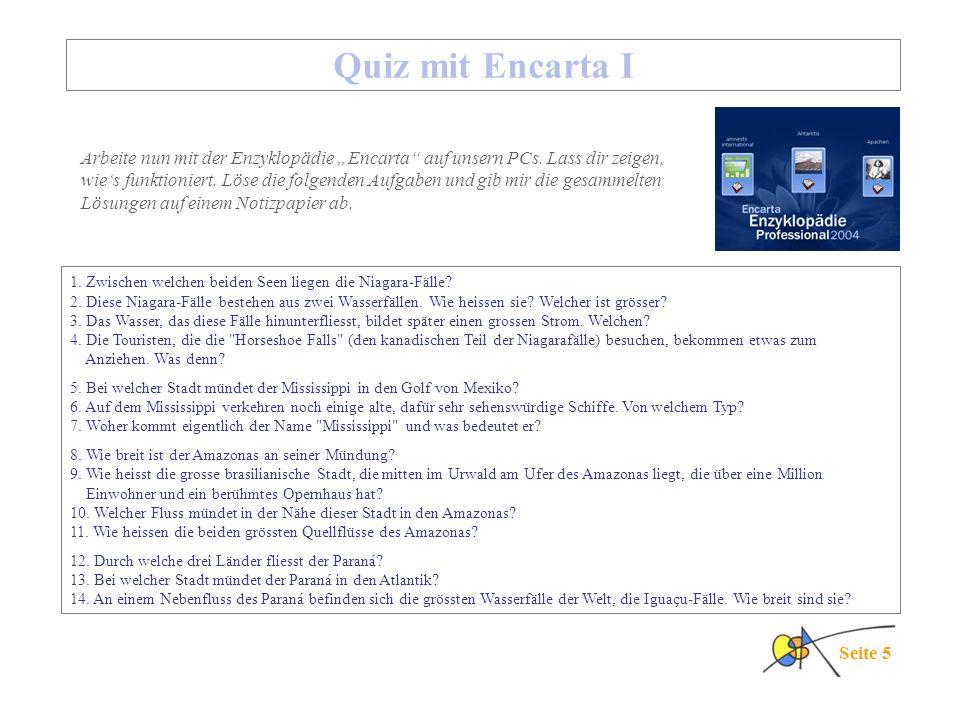 Quiz mit Encarta I
