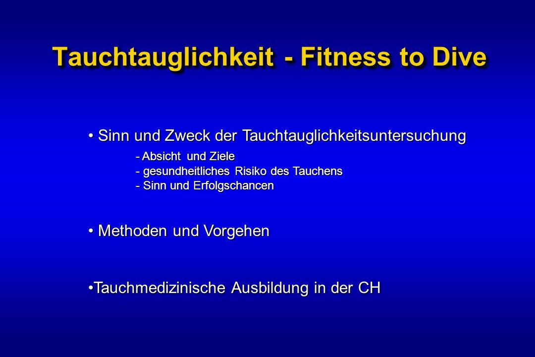 Tauchtauglichkeit - Fitness to Dive