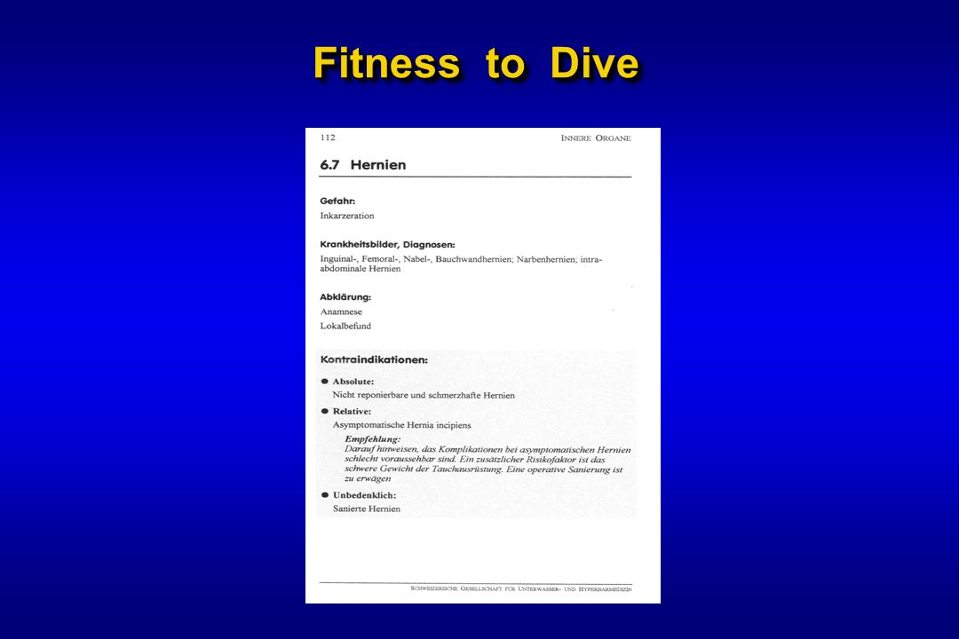 Fitness to Dive