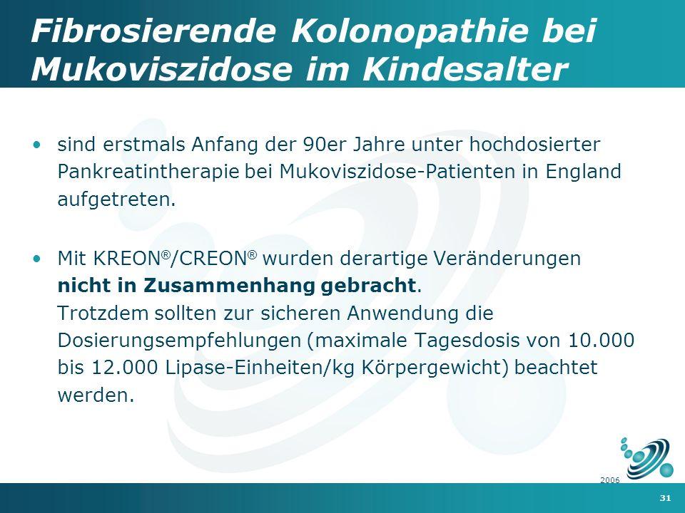 Fibrosierende Kolonopathie bei Mukoviszidose im Kindesalter