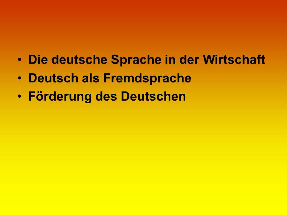 Die deutsche Sprache in der Wirtschaft