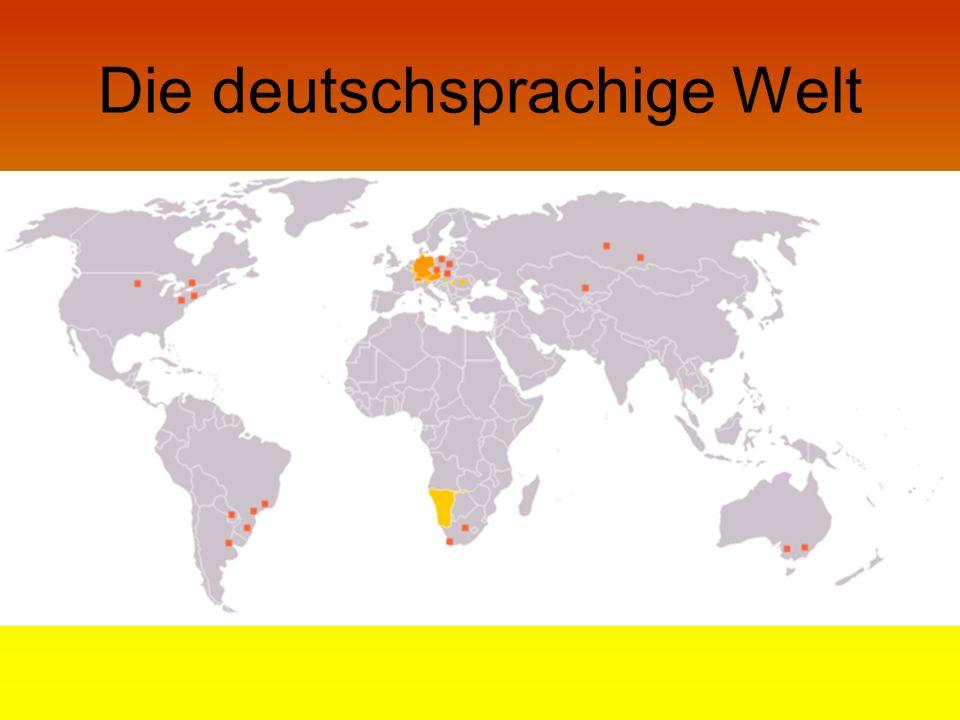 Die deutschsprachige Welt