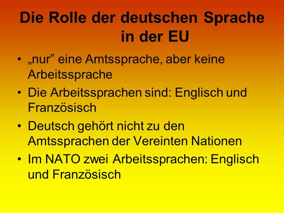 Die Rolle der deutschen Sprache in der EU