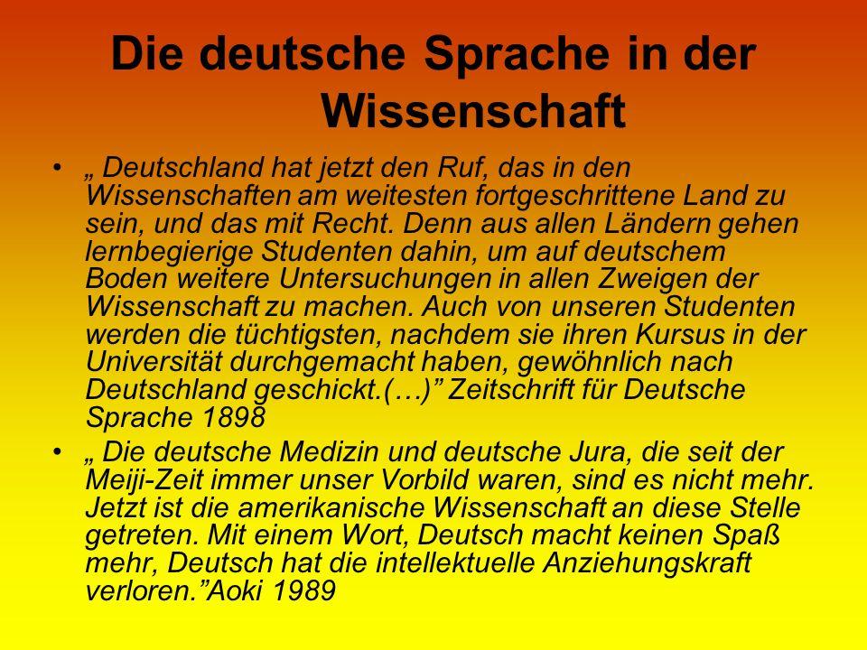 Die deutsche Sprache in der Wissenschaft