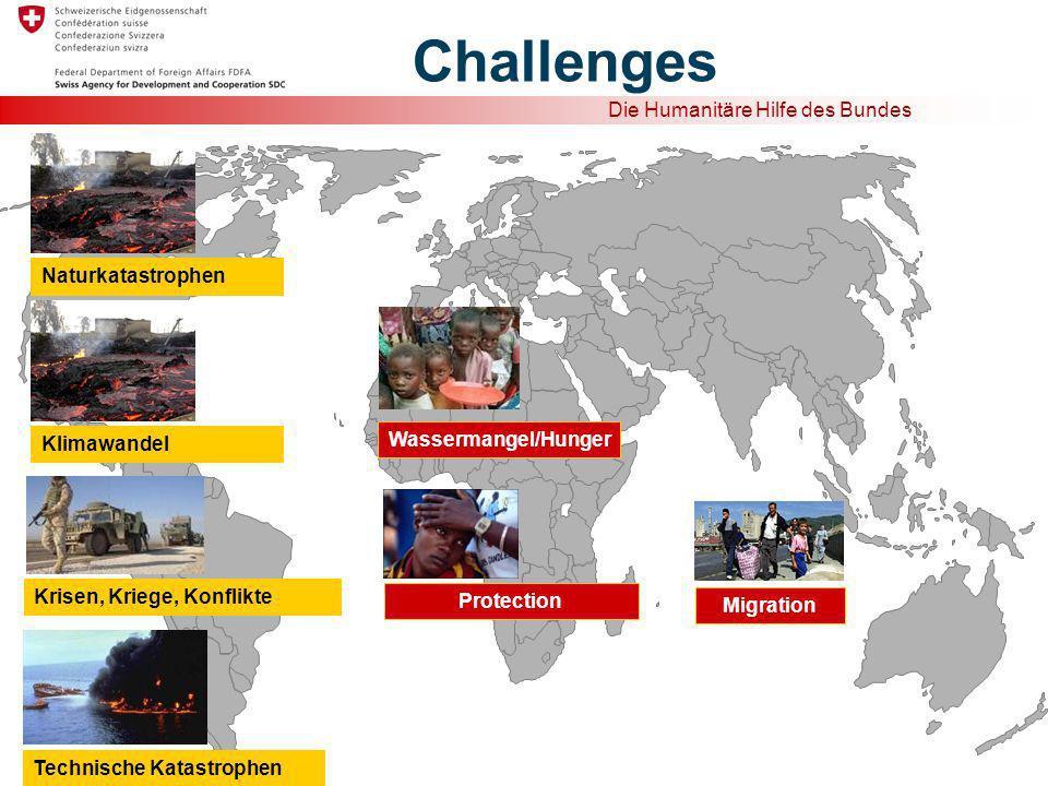 Challenges Naturkatastrophen Wassermangel/Hunger Klimawandel