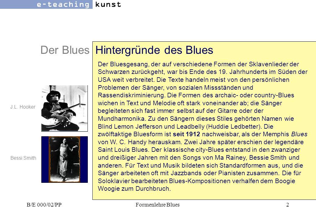 Der Blues Entstehung Des Blues Hörbeispiele: Gospel: Blues