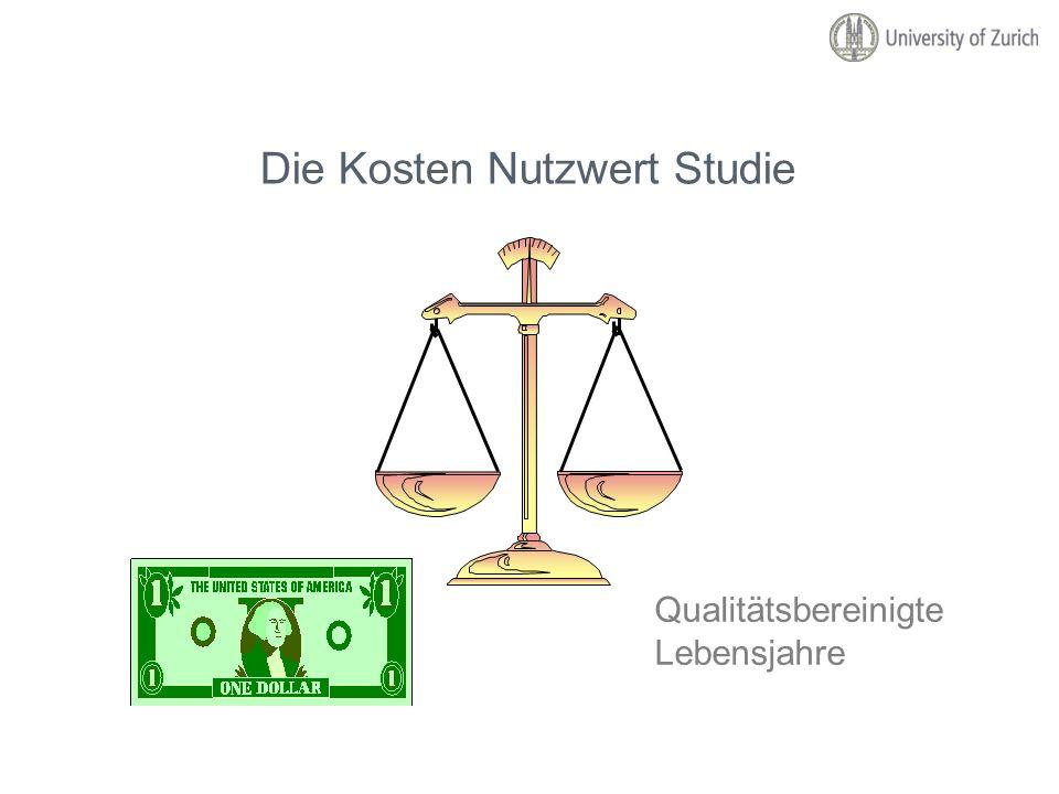 Die Kosten Nutzwert Studie
