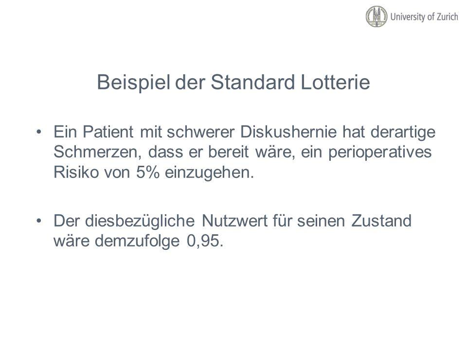 Beispiel der Standard Lotterie