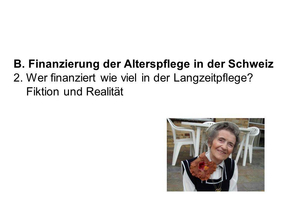 B. Finanzierung der Alterspflege in der Schweiz