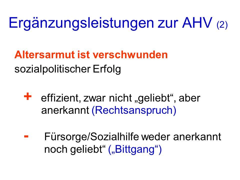 Ergänzungsleistungen zur AHV (2)
