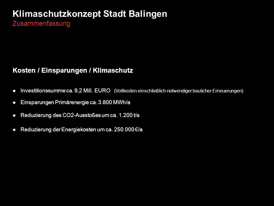 Klimaschutzkonzept Stadt Balingen Zusammenfassung