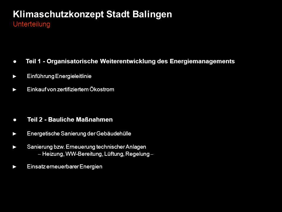 Klimaschutzkonzept Stadt Balingen Unterteilung