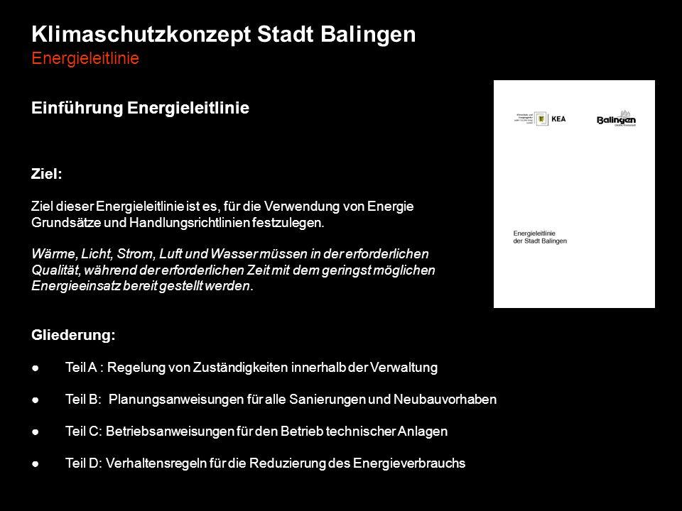 Klimaschutzkonzept Stadt Balingen Energieleitlinie