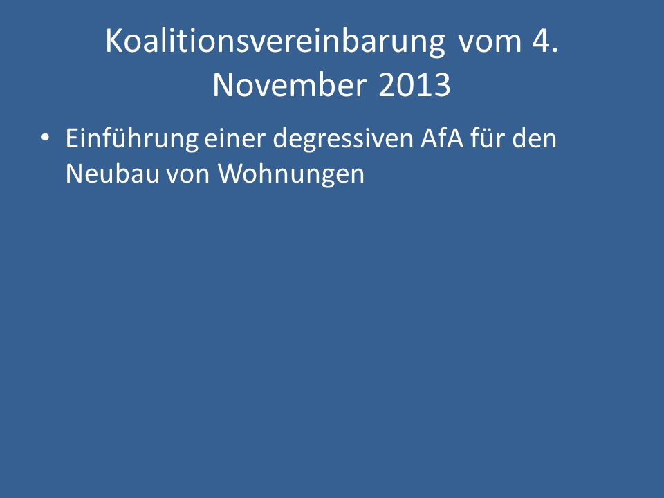 Koalitionsvereinbarung vom 4. November 2013