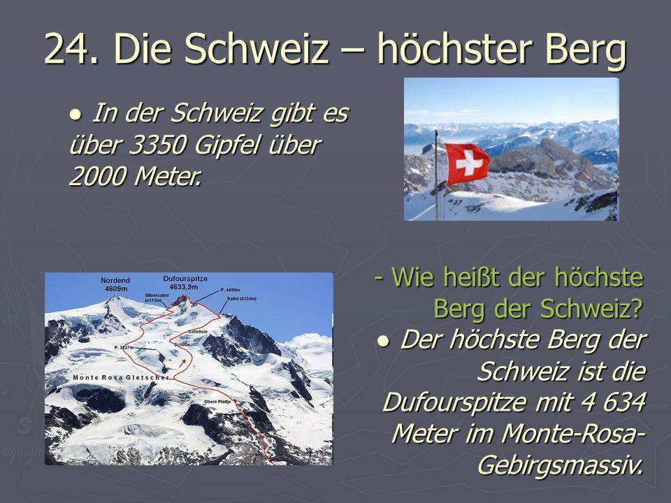 24. Die Schweiz – höchster Berg