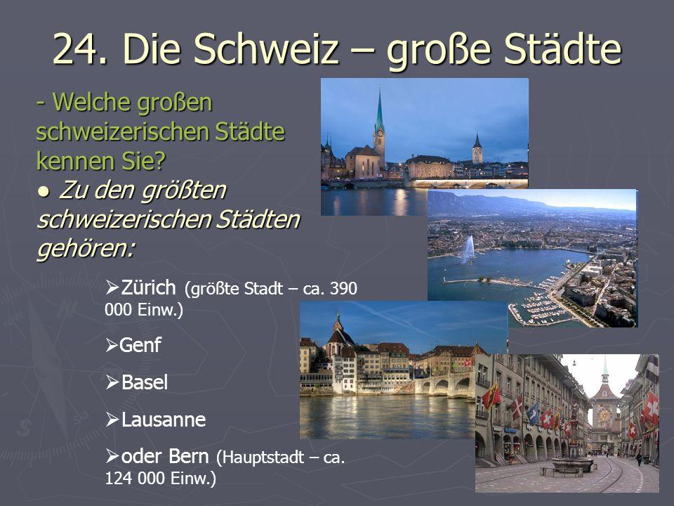 24. Die Schweiz – große Städte