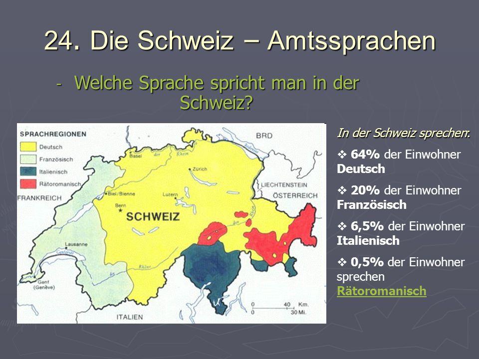 24. Die Schweiz – Amtssprachen