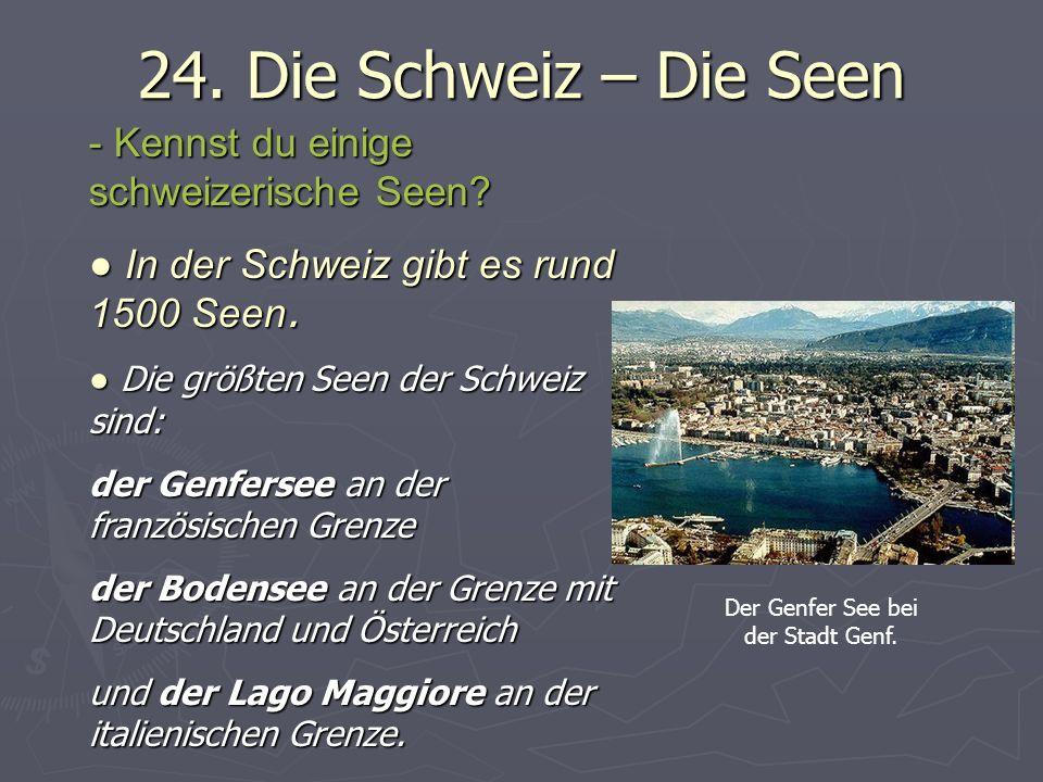 Der Genfer See bei der Stadt Genf.